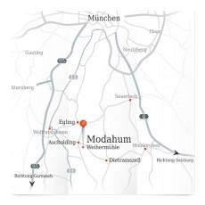 Anfahrtsskizze des Großraumes München